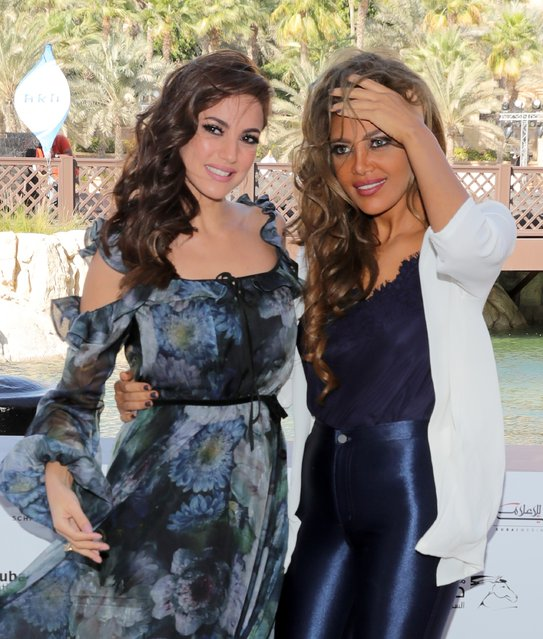 Dorra and Reham Haggag attend The Preacher photocall during day four of the 13th annual Dubai International Film Festival held at the Madinat Jumeriah Complex on December 10, 2016 in Dubai, United Arab Emirates. (Photo by Neilson Barnard/Getty Images for DIFF)