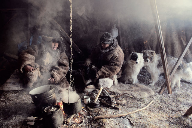 Due to the harsh climate and difficulty of life in the tundra, hospitality and generosity are highly prized among the Chukchi. They believe that all natural phenomena are considered to have their own spirits. Traditional lifestyle still survives but is increasingly supplemented. (Jimmy Nelson)