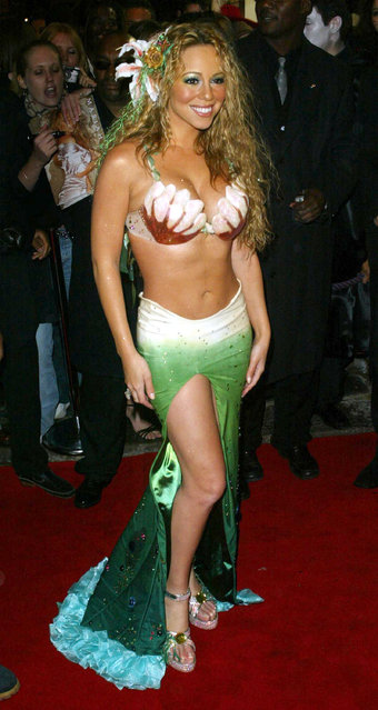 Mariah Carey during Mariah Carey Hosts a Halloween Party at Collection in London, United Kingdom on October 31, 2003. (Photo by Tim Whitby/WireImage)