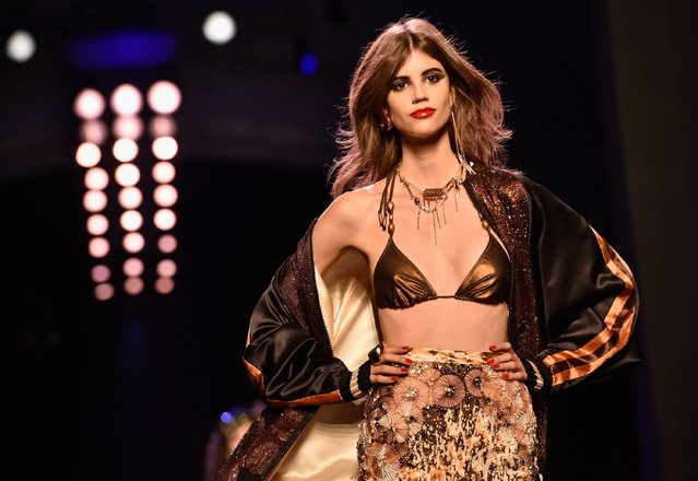 Antonina Petkovic walks the runway during the Jean Paul Gaultier Spring Summer 2016 show as part of Paris Fashion Week on January 27, 2016 in Paris, France. (Photo by Pascal Le Segretain/Getty Images)