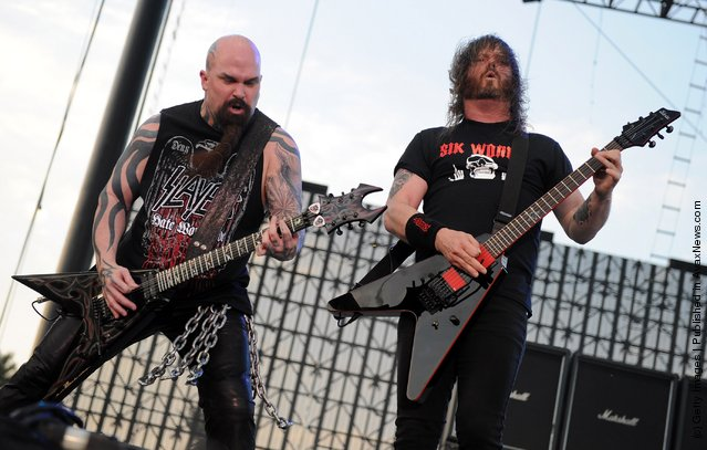 Kerry King of Slayer and musician Gary Holt