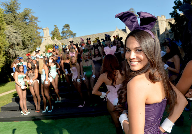 Playmate of the Year 2013 Raquel Pomplun poses at Playboy's 60th Anniversary special event on January 16, 2014 in Los Angeles, California. (Photo by Charley Gallay/Getty Images for Playboy)