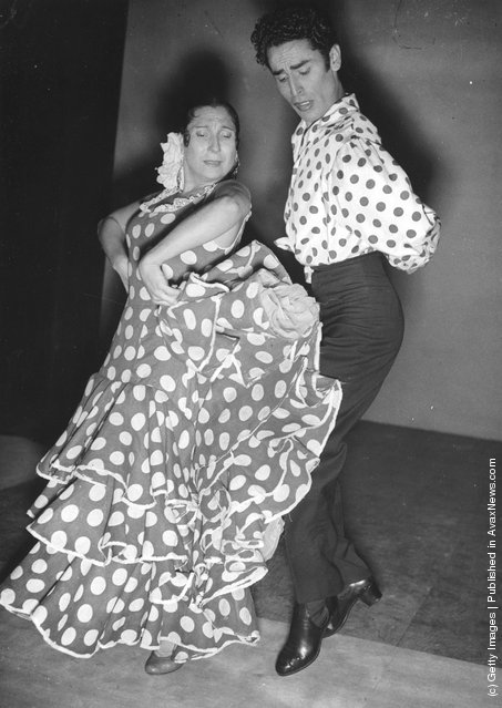 Flamenco. Pilar Lopez, sister of spanish dancer La Argentinita, and partner, members of the Ballet Espagnol