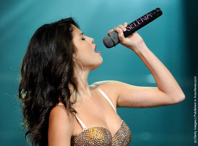 Singer Selena Gomez performs at the Mandalay Bay Events Center