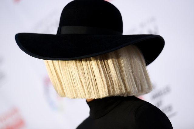 Sia arrives at An Evening with Women benefiting the Los Angeles LGBT Center held at the Hollywood Palladium on Saturday, May 16, 2015, in Los Angeles. (Photo by Richard Shotwell/Invision/AP Photo)