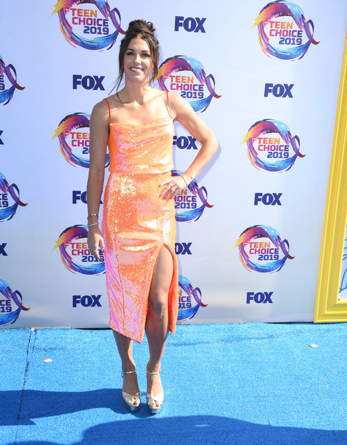 Alex Morgan arrives at the FOX's Teen Choice Awards 2019 on August 11, 2019 in Hermosa Beach, California. (Photo by Steve Granitz/WireImage)