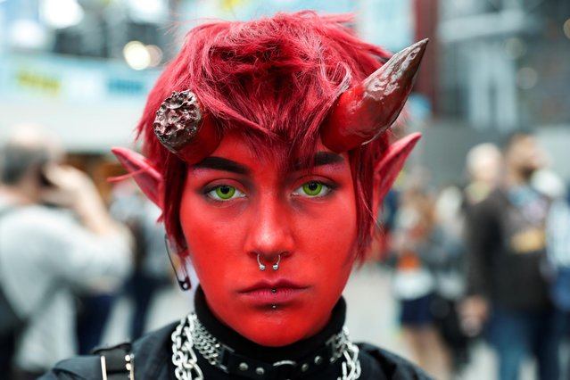 A person dressed up as Damien Lavey of Monster Prom attends the 2019 New York Comic Con in New York City, New York, U.S., October 3, 2019. (Photo by Shannon Stapleton/Reuters)