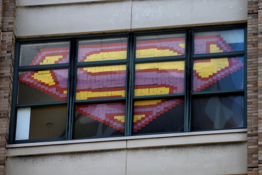 Post-It War Gets Sticky on New York City Office Windows