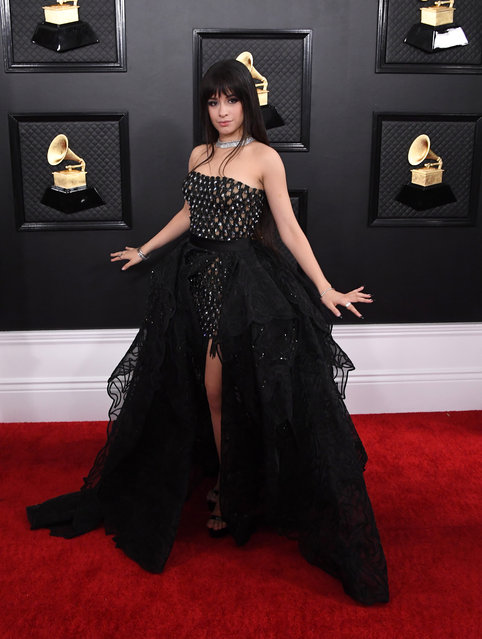 Camila Cabello attends the 62nd Annual GRAMMY Awards at Staples Center on January 26, 2020 in Los Angeles, California. (Photo by Steve Granitz/WireImage)