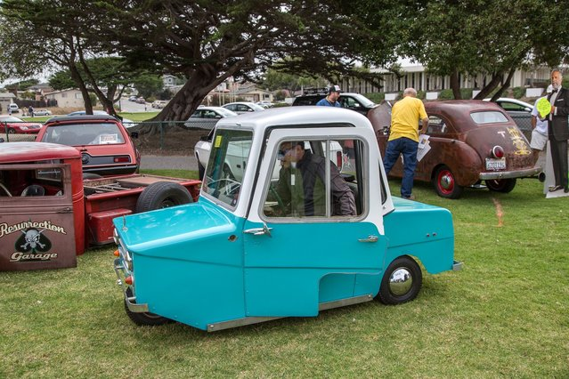 The 1973 Electra-King three-wheeler, the dead evolutionary branch of today's electric cars. (Photo by Robert Kerian/Yahoo Autos)
