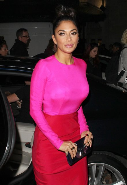 Nicole Scherzinger arriving at the ITV Gala held at the London Palladium on November 9, 2017 in London, England. (Photo by Splash News and Pictures)