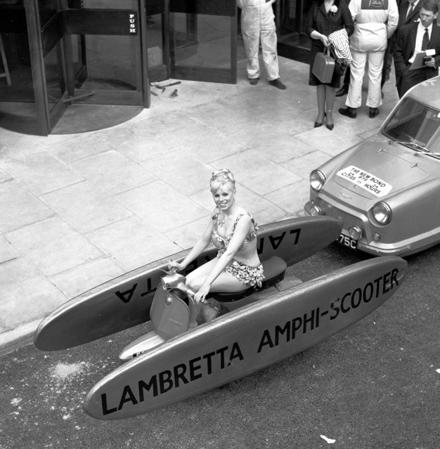 Handout photo issued by Easyart of an amphibious scooter as an archive of weird and wacky innovations has been unearthed by an amateur historian as he trawled through a collection of images spanning the last 100 years. (Photo by Easyart/PA Wire)