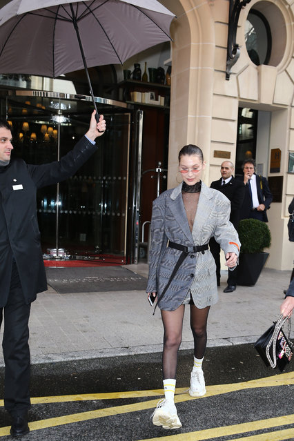 Bella Hadid is seen in Paris, France on January 16, 2018. (Photo by Splash News and Pictures)