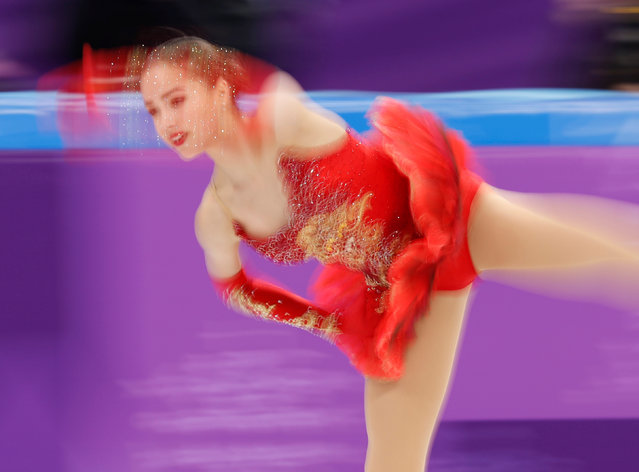 Russia' s Alina Zagitova competes in the figure skating team event women' s single skating free skating during the Pyeongchang 2018 Winter Olympic Games at the Gangneung Ice Arena in Gangneung on February 12, 2018. (Photo by Damir Sagolj/Reuters)