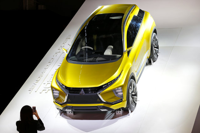 The Mitsubishi Concept EX is displayed on media day at the Paris auto show, in Paris, France, September 29, 2016. (Photo by Benoit Tessier/Reuters)
