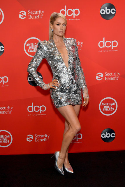 In this image released on November 22, American media personality Paris Hilton attends the 2020 American Music Awards at Microsoft Theater on November 22, 2020 in Los Angeles, California. (Photo by Emma McIntyre/AMA2020/Getty Images for dcp)