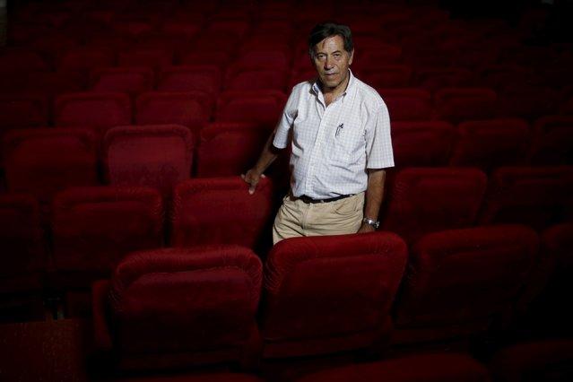 Projectionist Antonio Feliciano, 75, poses for a portrait at Girasol cinema in Vila Nova de Milfontes, Portugal August 31, 2013. (Photo by Rafael Marchante/Reuters)