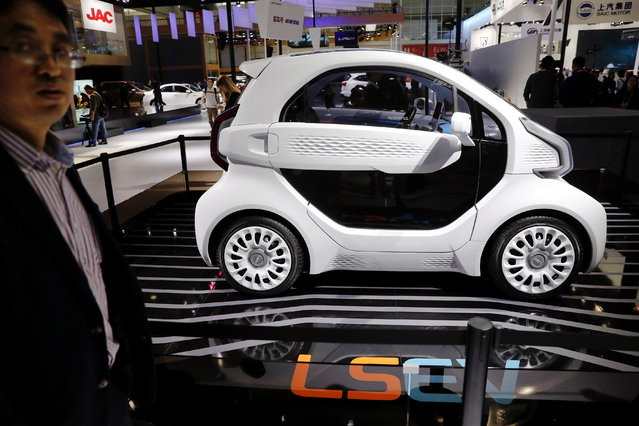 The LSEV electric car is displayed during a media preview at the Auto China 2018 motor show in Beijing, China on April 25, 2018. (Photo by Damir Sagolj/Reuters)
