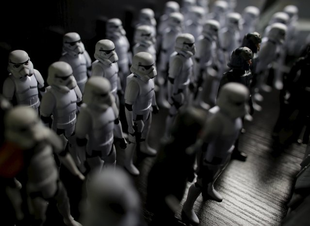 A collection of Star Wars Stormtrooper toys is seen in the home of its owner Pablo Perez (not pictured) in Monterrey, Mexico December 12, 2015. (Photo by Daniel Becerril/Reuters)