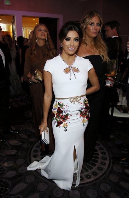 Actress Eva Longoria arrives at the 73rd Golden Globe Awards in Beverly Hills, California January 10, 2016. (Photo by Danny Moloshok/Reuters)
