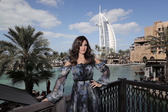 Dorra poses during a portrait session on day four of the 13th annual Dubai International Film Festival held at the Madinat Jumeriah Complex on December 10, 2016 in Dubai, United Arab Emirates. (Photo by Neilson Barnard/Getty Images for DIFF)