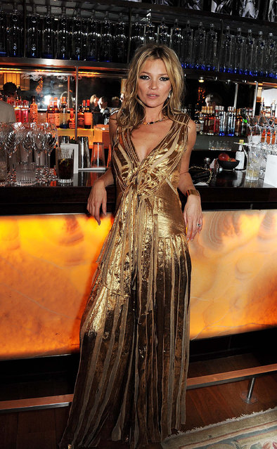 "Celebrity Finalist – Dave Benett. Kate Moss during the launch of ""Kate: The Kate Moss Book"" hosted by Marc Jacobs, published by Rizzoli New York and supported by Ciroc Ultra Premium Vodka at 50 St. James on November 15, 2012 in London, England. (Photo by Dave Benett/The London Evening Standard)"