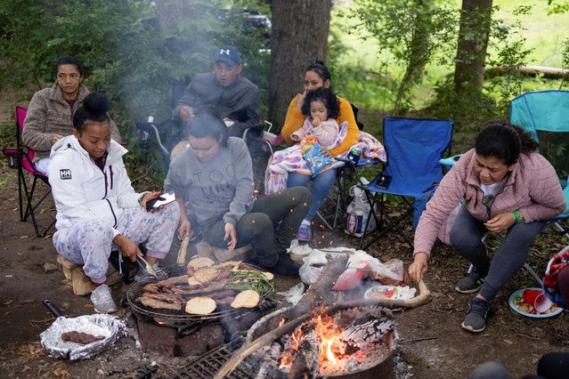 People camp at Harpers Ferry Adventure Center for Memorial Day weekend in Hillsboro, Virginia, U.S., May 30, 2021. (Photo by Hannah Beier/Reuters)