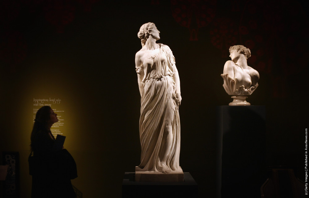 Artworks Form Part Of The Cult Of Beauty Exhibition At The Victoria And Albert Musuem.