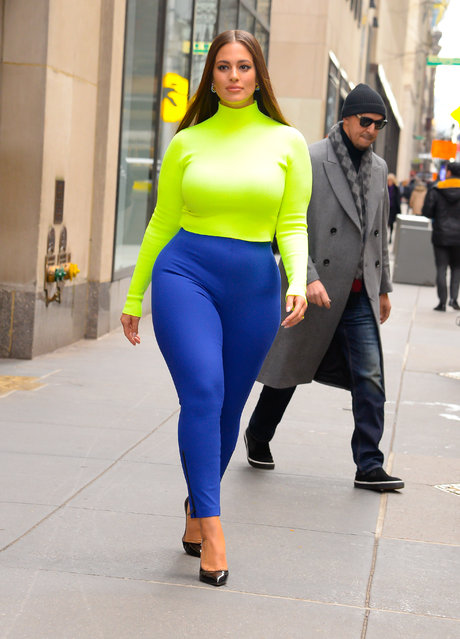 Model Ashley Graham seen outside the today show on January 9, 2019 in New York City. (Photo by Raymond Hall/GC Images)