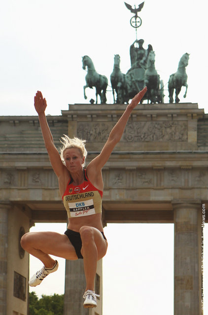 Track & Field Show Event At Brandenburger Tor