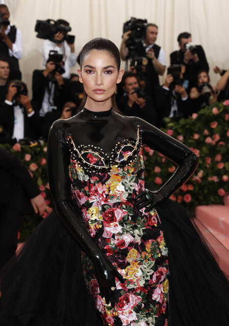 "Lily Aldridge attends the 2019 Met Gala celebrating ""Camp: Notes on Fashion"" at the Metropolitan Museum of Art on May 06, 2019 in New York City. (Photo by Andrew Kelly/Reuters)"