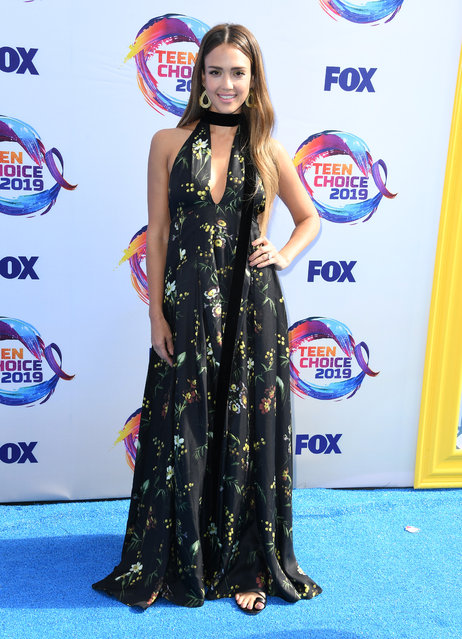 Jessica Alba arrives at the FOX's Teen Choice Awards 2019 on August 11, 2019 in Hermosa Beach, California. (Photo by Steve Granitz/WireImage)