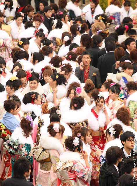 Twenty-Year-Old People Celebrate Coming-Of-Age Around Japan