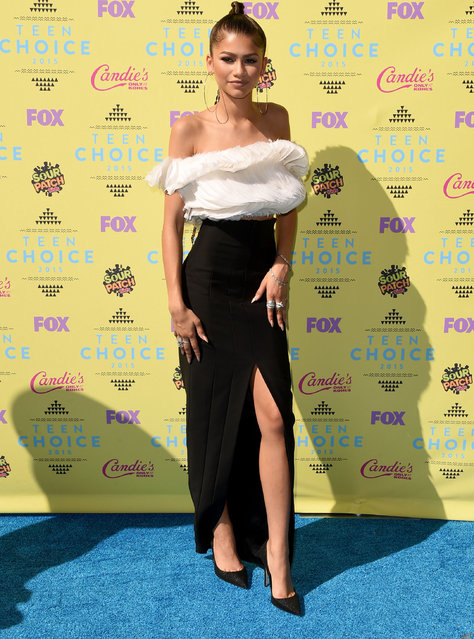 Actress/singer Zendaya attends the Teen Choice Awards 2015 at the USC Galen Center on August 16, 2015 in Los Angeles, California. (Photo by Jason Merritt/Getty Images)