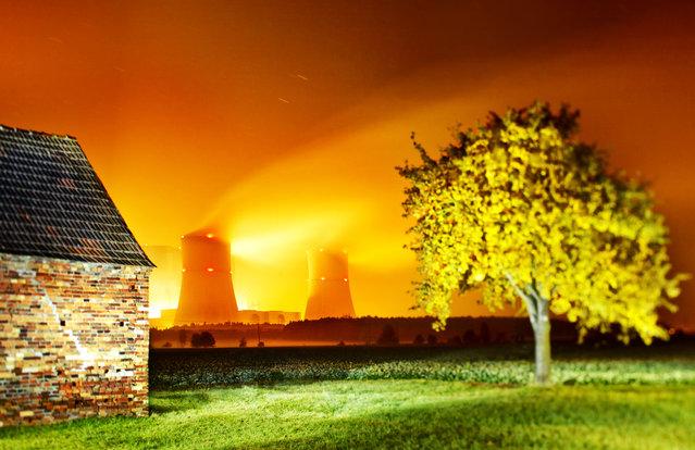 Power station Schwarze Pumpe, Germany. (Photo by Radek Kalhous/Caters News)