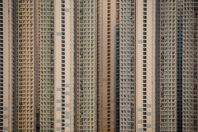 The Yat Tung Estate public housing stands in Tung Chung, Hong Kong, China, 15 March 2020. Tung Chung is located on ​Lantau Island, a few kilometres away from Hong Kong International Airport. (Photo by Jérôme Favre/EPA/EFE)