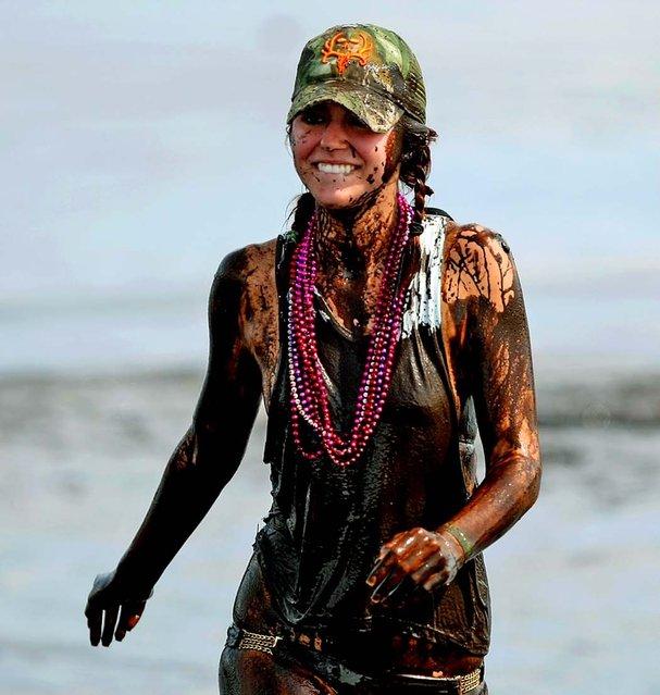 Girl in the mud bog