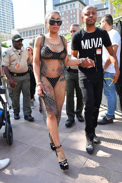 Model Blac Chyna attends the 3rd Annual Amber Rose SlutWalk on October 1, 2017 in Los Angeles, California. (Photo by Splash News and Pictures)