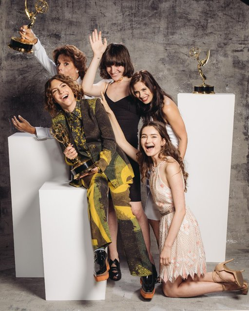 Alexandra Billings, Jill Soloway, Hari Nef, Kelsey Reinhardt, Emily Robinson poses for a portrait at the Television Academy's 67th Emmy Awards Performers Nominee Reception at the Pacific Design Center on Saturday, September 19, 2015 in West Hollywood, Calif. (Photo by Casey Curry/Invision for the Television Academy/AP Images)