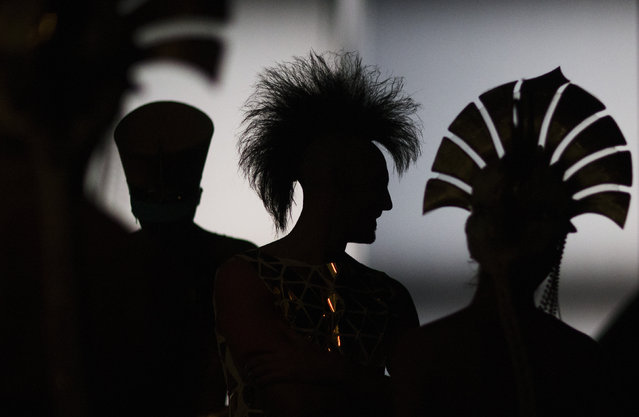 Dancers attend a dress rehearsal. (Photo by Hannibal Hanschke/Reuters)