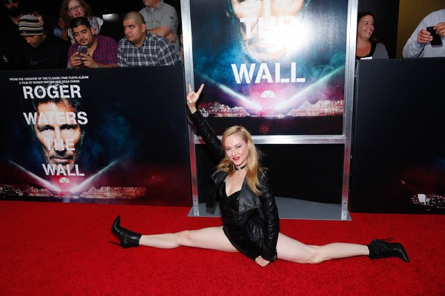 """DeeDee Luxe attends the New York Premiere of """"Roger Waters The Wall"""" at Ziegfeld Theater on September 28, 2015 in New York City. (Photo by Rob Kim/Getty Images)"""
