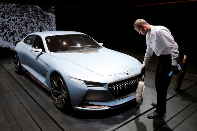 The Genesis New York Concept is displayed on media day at the Paris auto show, in Paris, France, September 29, 2016. (Photo by Benoit Tessier/Reuters)