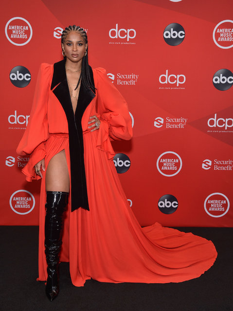 In this image released on November 22, American singer Ciara attends the 2020 American Music Awards at Microsoft Theater on November 22, 2020 in Los Angeles, California. (Photo by ABC/Rex Features/Shutterstock)
