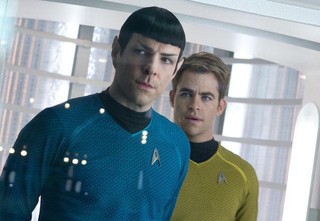 "May 17: ""Star Trek Into Darkness"" J.J. Abrams again directs a sequel in the revived franchise based on classic TV show. With Chris Pine, Zachary Quinto, Zoe Saldana and Benedict Cumberbatch as a villain who may or may not be Khan. (Photo by Paramount Pictures)"