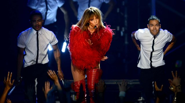 Jennifer Lopez performs onstage during the show. (Photo by Ethan Miller/Getty Images)