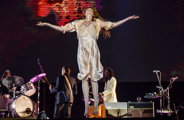 British band Florence and the Machine performs at the Bilbao BBK Live festival in Bilbao, Spain, early 13 July 2018. Bilbao BBK Live festival runs from 12 July to 14 July 2018. (Photo by Miguel Tona/EPA/EFE)