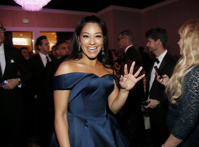 Actress Gina Rodriguez arrives at the 73rd Golden Globe Awards in Beverly Hills, California January 10, 2016. (Photo by Danny Moloshok/Reuters)
