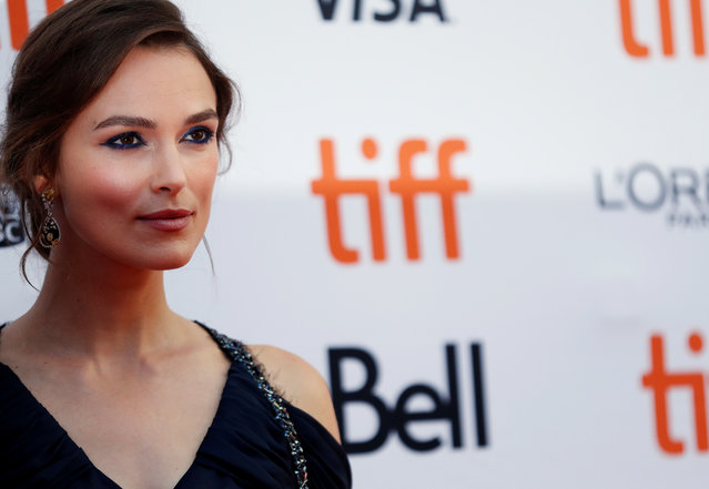 """Actor Keira Knightley arrives for the Canadian premiere of the movie """"Colette"""" at the Toronto International Film Festival in Toronto, Canada on September 11, 2018. (Photo by Mario Anzuoni/Reuters)"""