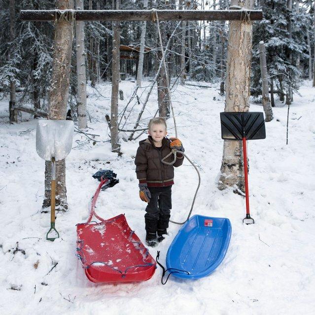 "Callum, 4 – Fairbanks, Alaska. ""Toy Stories"" project. (Gabriele Galimberti)"