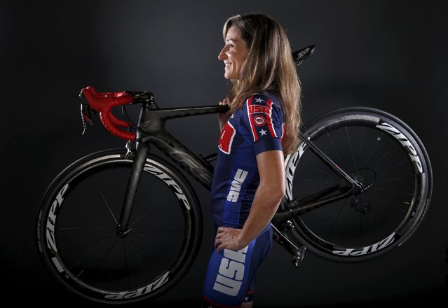 Paralympic cyclist Jamie Whitmore poses for a portrait at the U.S. Olympic Committee Media Summit in Beverly Hills, Los Angeles, California March 7, 2016. Picture taken March 7, 2016. (Photo by Lucy Nicholson/Reuters)